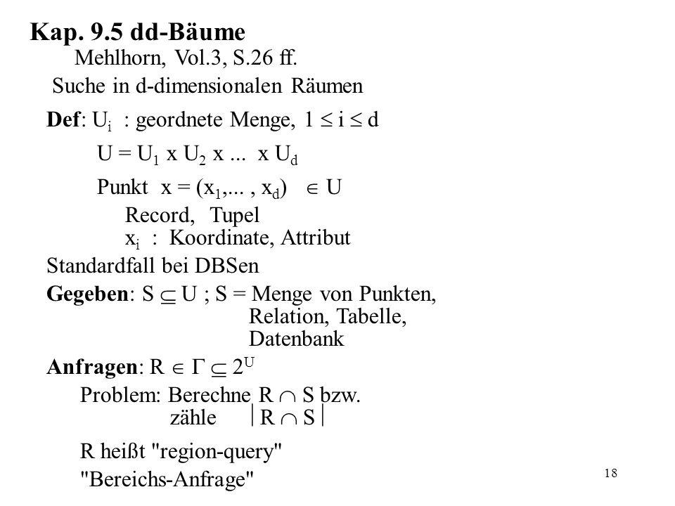 18 Kap. 9.5 dd-Bäume Mehlhorn, Vol.3, S.26 ff.
