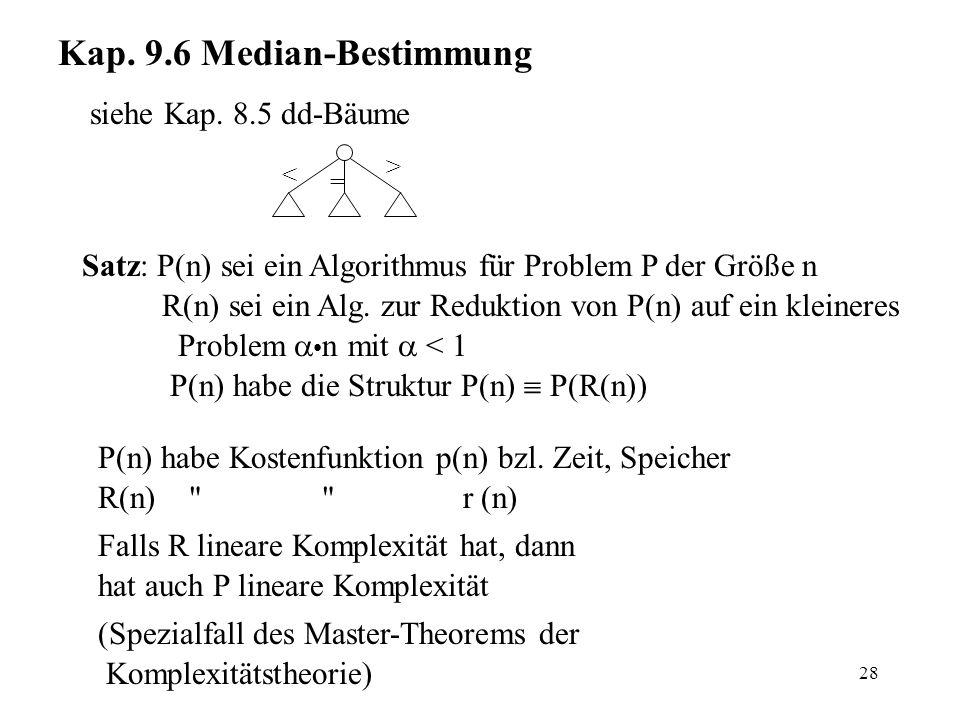 28 Kap. 9.6 Median-Bestimmung siehe Kap.