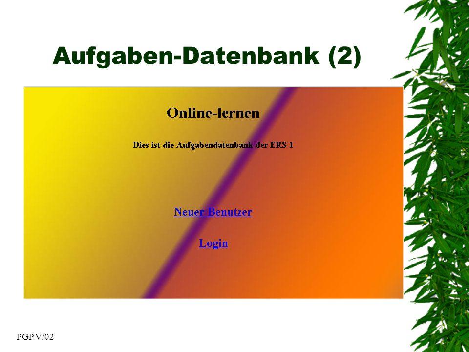 PGP V/02 Aufgaben-Datenbank (2)