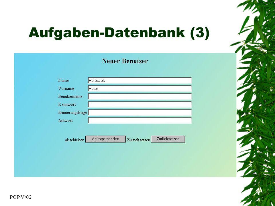 PGP V/02 Aufgaben-Datenbank (3)