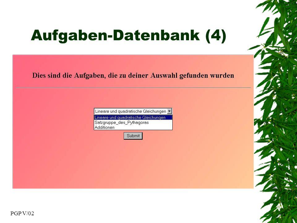 PGP V/02 Aufgaben-Datenbank (4)