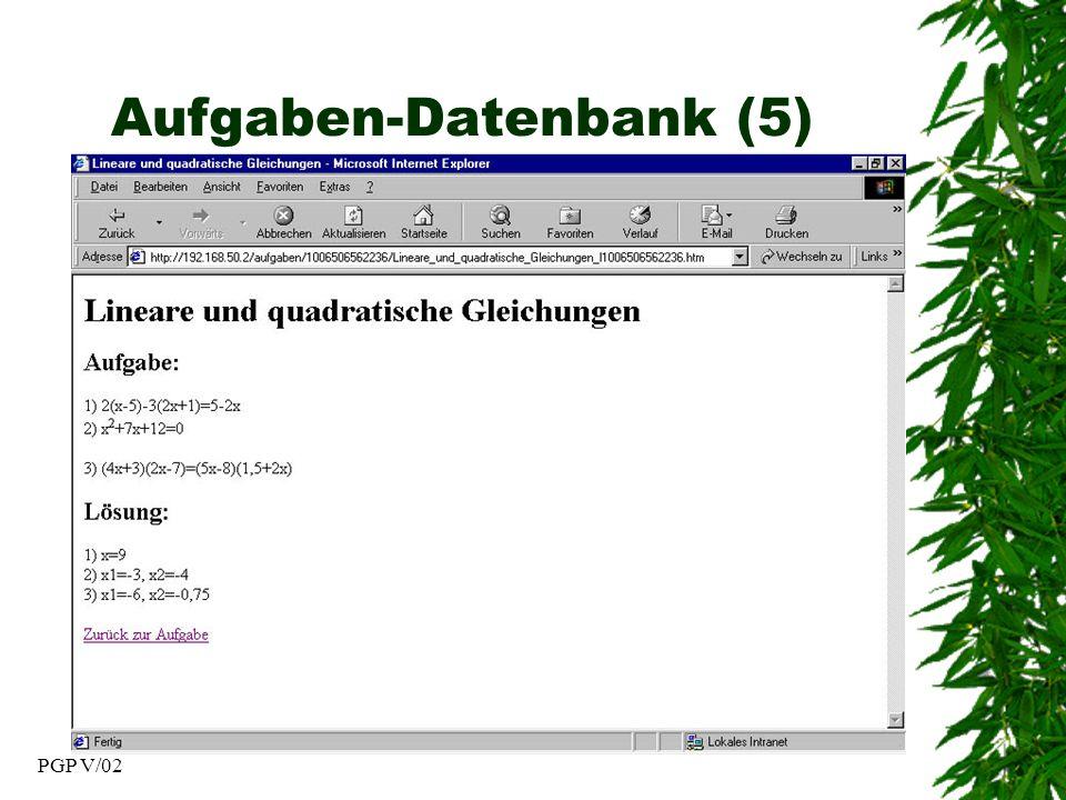 PGP V/02 Aufgaben-Datenbank (5)