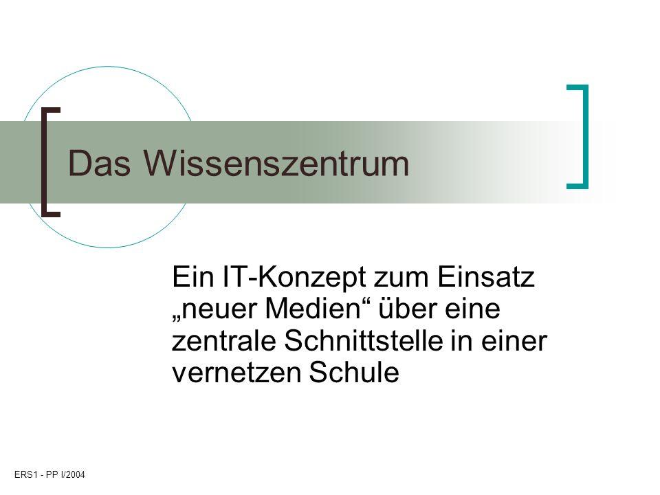 ERS1 - PP I/2004 2 Voraussetzungen Die Ernst-Reuter-Schule 1 ist ein Oberstufengymnasium in Frankfurt/M.