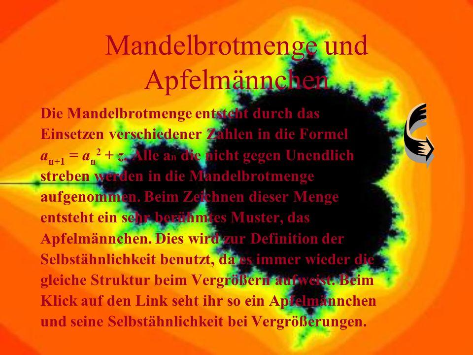 Fraktale Der Computerwissenschaftler Benoit Mandelbrot, prägte 1975 das Wort Fraktal: Er stieß bei seinen mathematischen Betrachtungen auf einige Sach