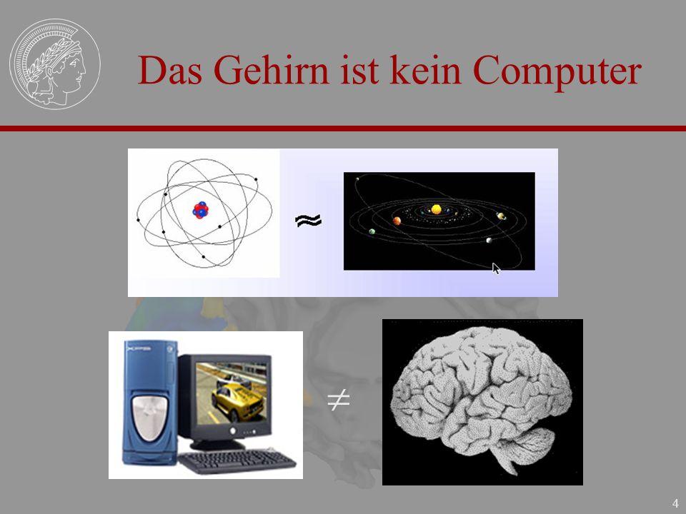 4 Das Gehirn ist kein Computer