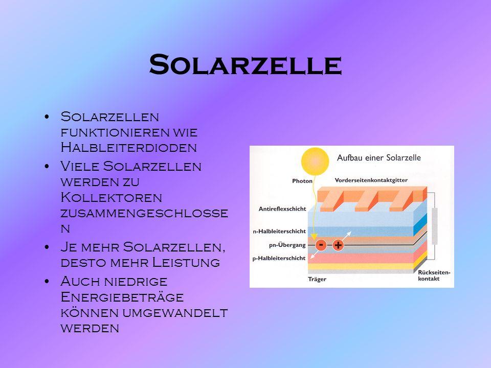 Solarenergie 1,37 Megajoule pro m*s² strahlen durch den Weltraum Fossile Energieträger reichen nicht mehr lange Sonnenenergie betreibt viele umweltfre