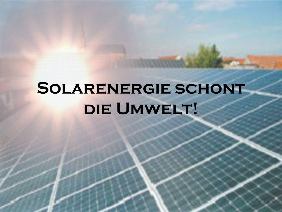 Anwendungsgebiete Solaranlagen im Moment noch zu teuer In Deutschland würde sich die Installation nicht lohnen Wird in seltenen Fällen genutzt zum Bei