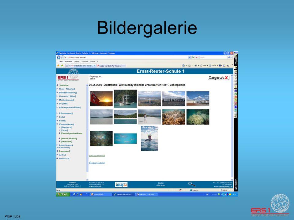 PGP II/08 Bildergalerie