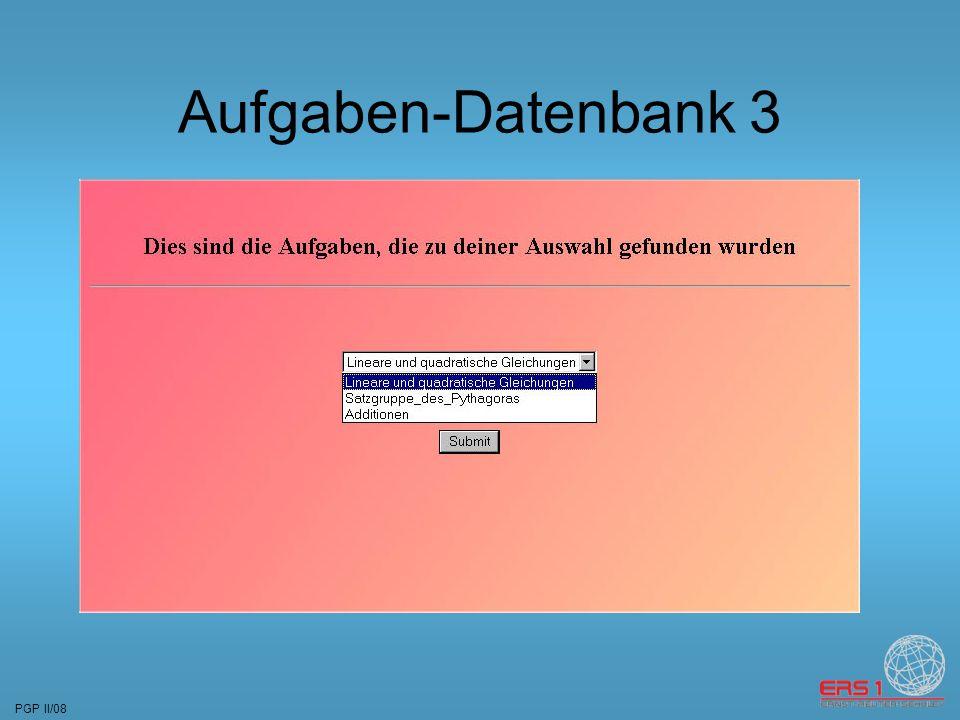 PGP II/08 Aufgaben-Datenbank 3
