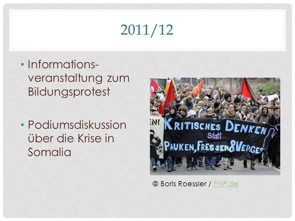 2011/12 Informations- veranstaltung zum Bildungsprotest Podiumsdiskussion über die Krise in Somalia © Boris Roessler / FNP.deFNP.de