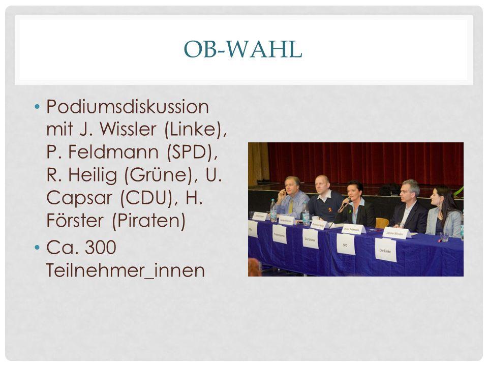 OB-WAHL Podiumsdiskussion mit J. Wissler (Linke), P.