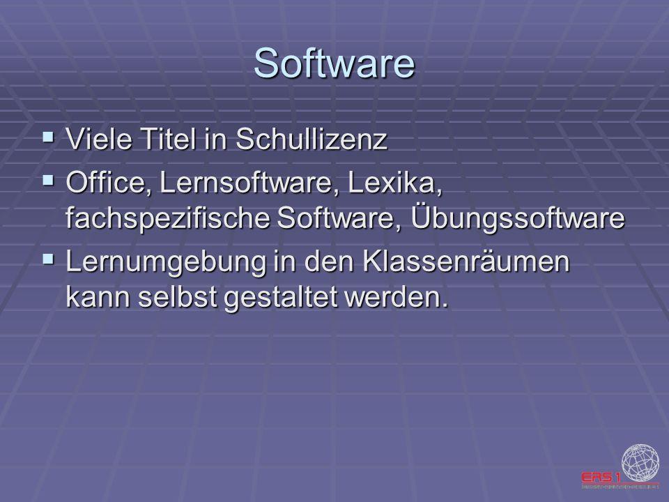 Software Viele Titel in Schullizenz Viele Titel in Schullizenz Office, Lernsoftware, Lexika, fachspezifische Software, Übungssoftware Office, Lernsoft