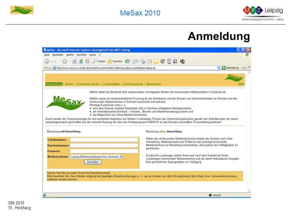 SBI 2010 Th. Hickfang MeSax 2010 Anmeldung