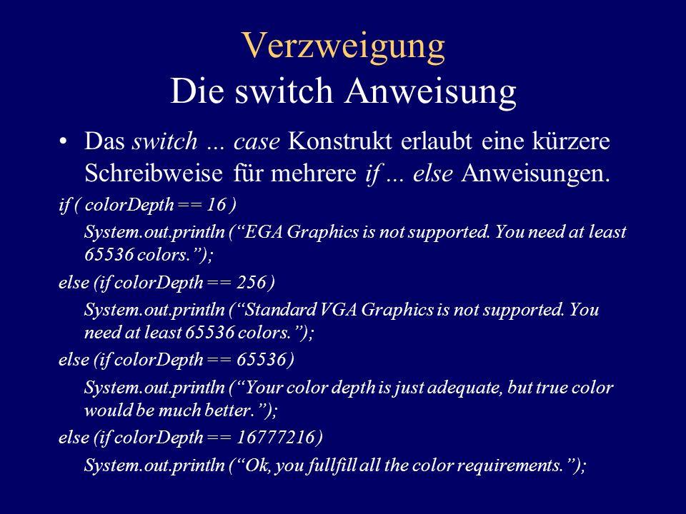 Verzweigung Der Bedingungsoperator Die allgemeine Syntax lautet: test ? true result : false result