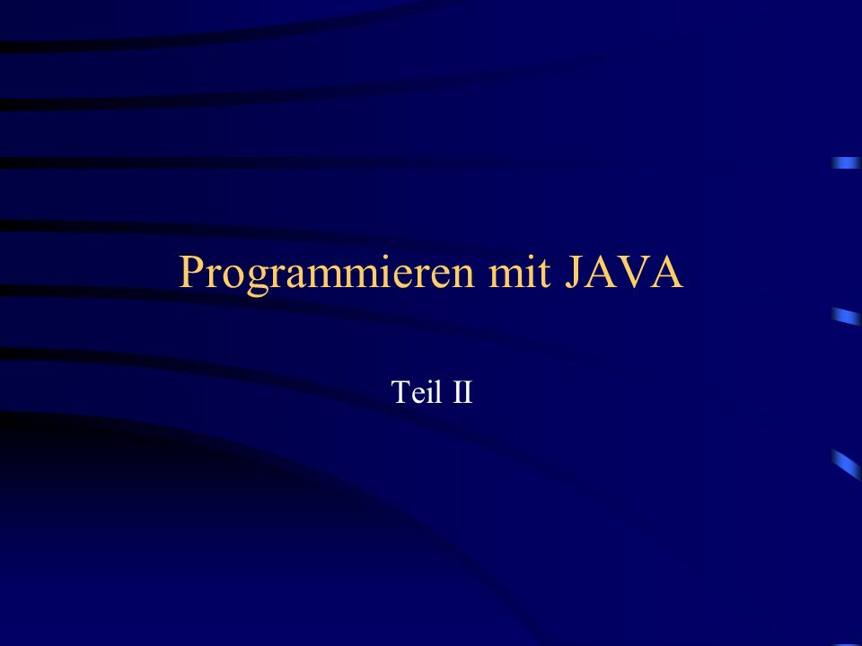 Bezeichnete Anweisungen Bsp.: endOfLoop:for (c1=0; c1<10; c1++) { for (c2=0; c2<50; c2++) { newchar = instream.read (); // read a char if (newchar == \0) break enfOfLoop; System.out.println (newchar); } System.out.println (\n); } System.out.println (The end);