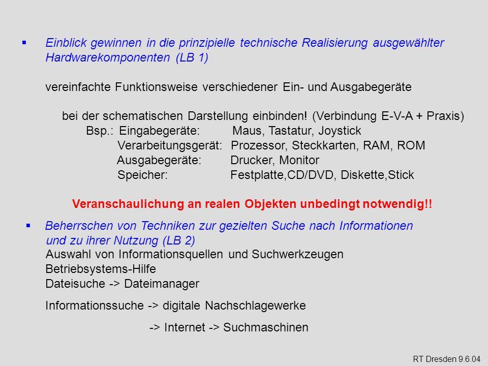 Einblick gewinnen in die Bedeutung von Systemsoftware (LB1) - Betriebssysteme und ihre Oberflächen an der Schule vorhandenes BS (Linux) vorstellen ggf.