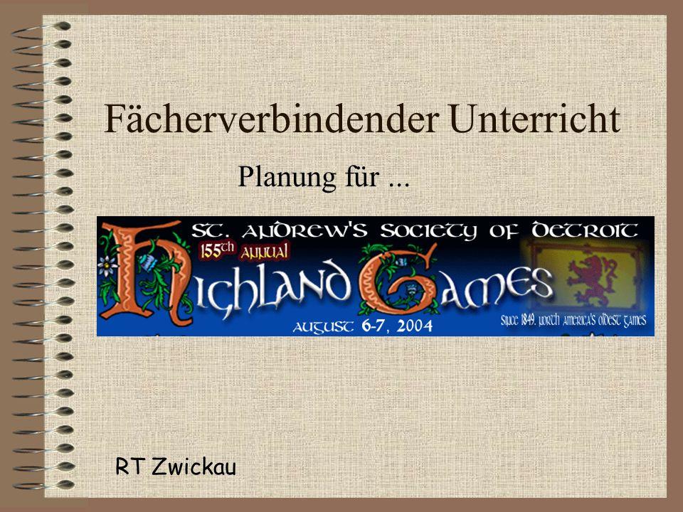 Fächerverbindender Unterricht Planung für... RT Zwickau