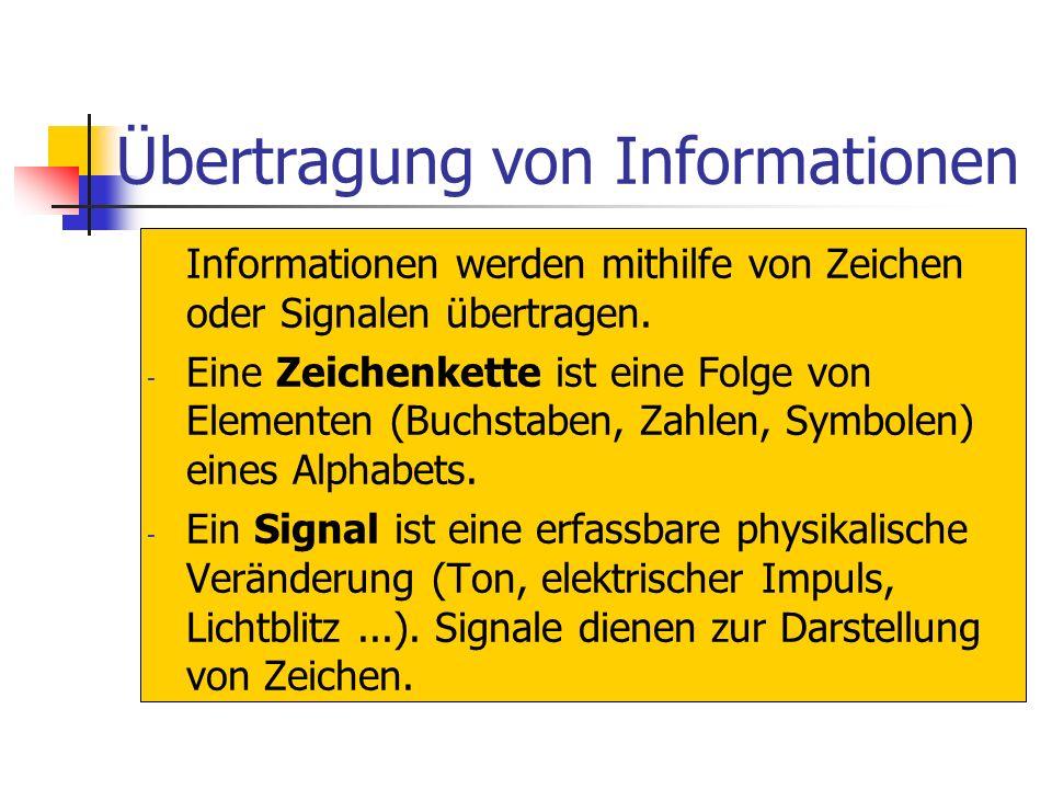 Informationen und Daten Information ist eine allgemeine Eigenschaft der uns umgebenden Welt. Informationen werden sowohl in der belebten und unbelebte
