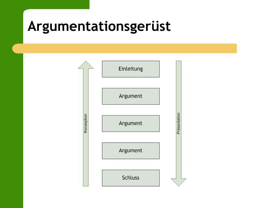 Argumentationsgerüst
