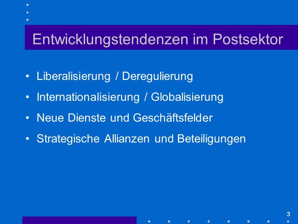 24 Umsatz DP nach Segmenten 19992003 Quelle: Deutsche Post