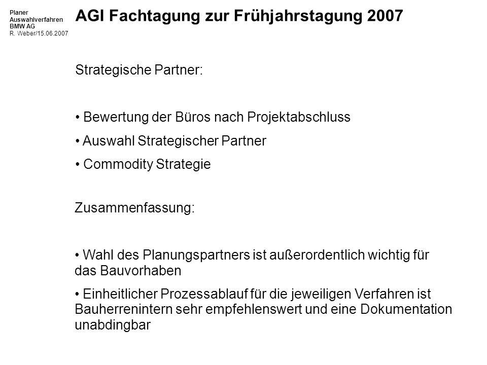 Planer Auswahlverfahren BMW AG R.