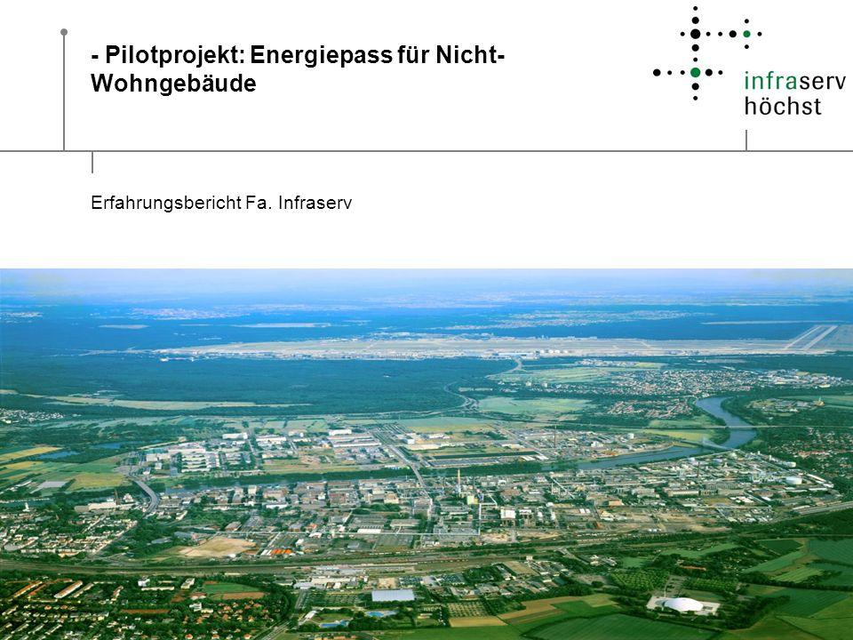 - Pilotprojekt: Energiepass für Nicht- Wohngebäude Erfahrungsbericht Fa. Infraserv