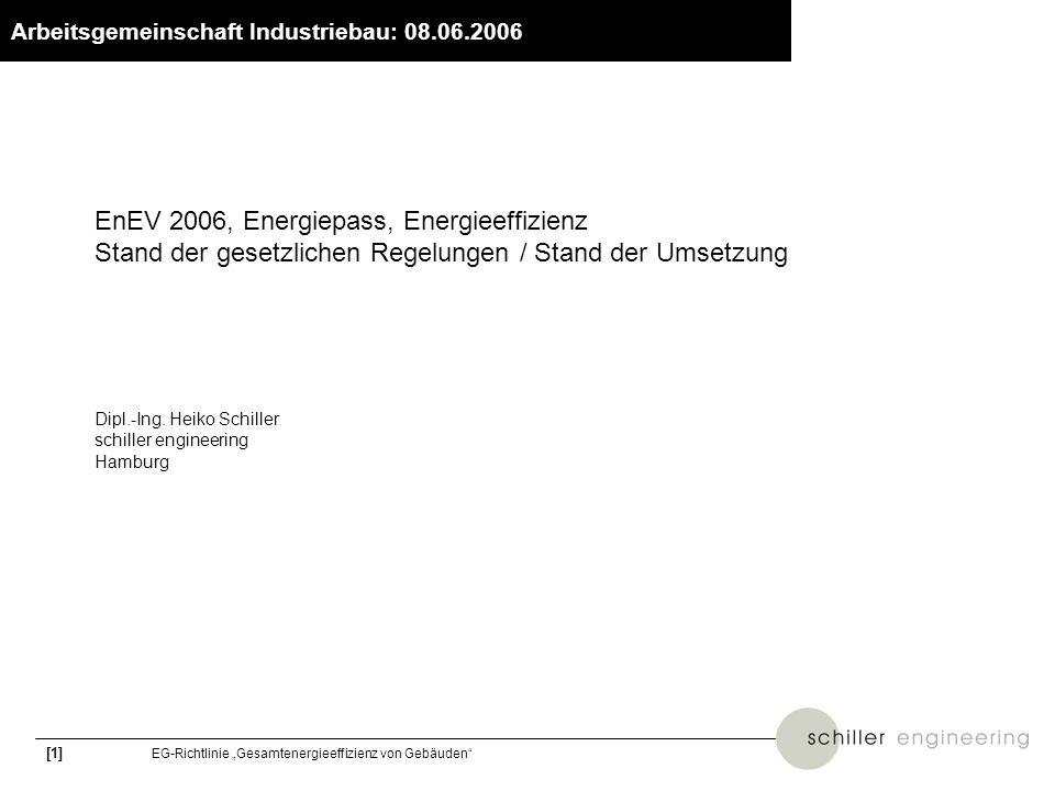 [2] EG-Richtlinie Gesamtenergieeffizienz von Gebäuden www.bbr.bund.de Anliegen der EG-Richtlinie Klimaschutz: Reduzierung des CO 2 -Ausstoßes (EU –8 %; Deutschland –21 %) 40 % des Endenergieverbrauchs der EU entfallen auf den Gebäudebereich Ziel der EU: einheitliche Kriterien zur Erschließung des wirtschaftlichen Einsparpotenzials (ca.