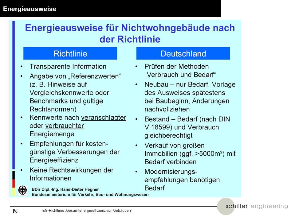 [17] EG-Richtlinie Gesamtenergieeffizienz von Gebäuden DIN 18599 – Modellierung von Klimasystemen I.