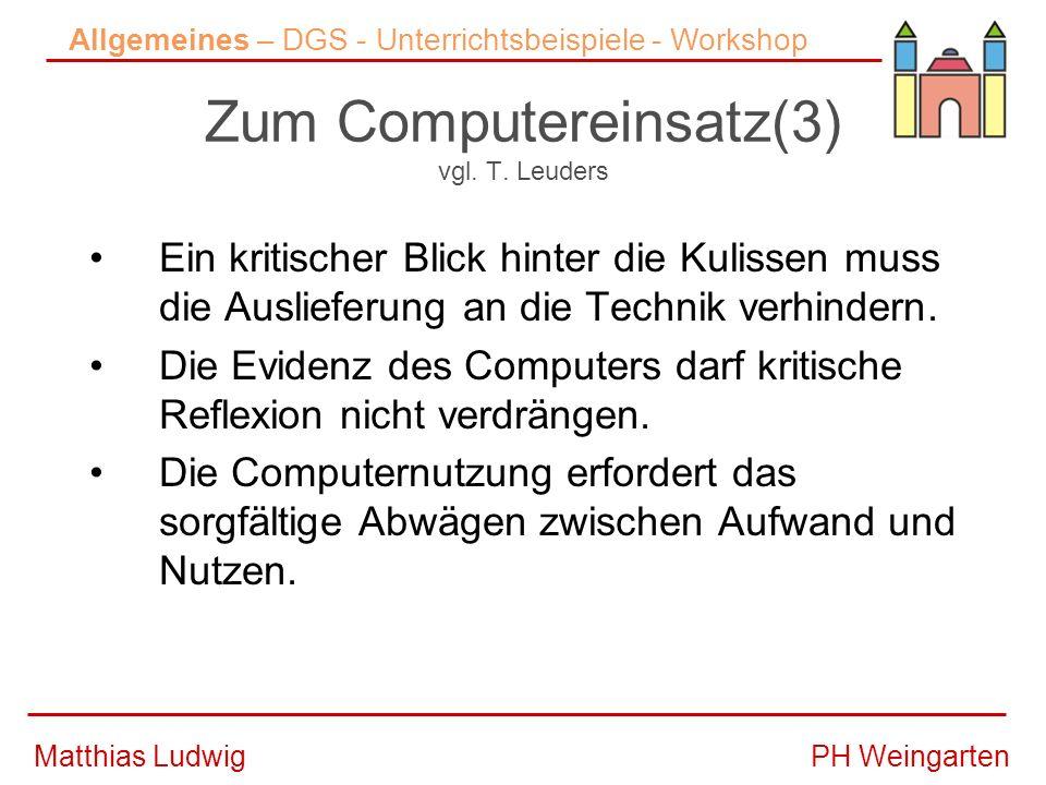 PH WeingartenMatthias Ludwig DGS- Dynamisches Geometrie Systeme Erstes dynamisches System Ende der 80er Jahre (Cabri Geomètre).