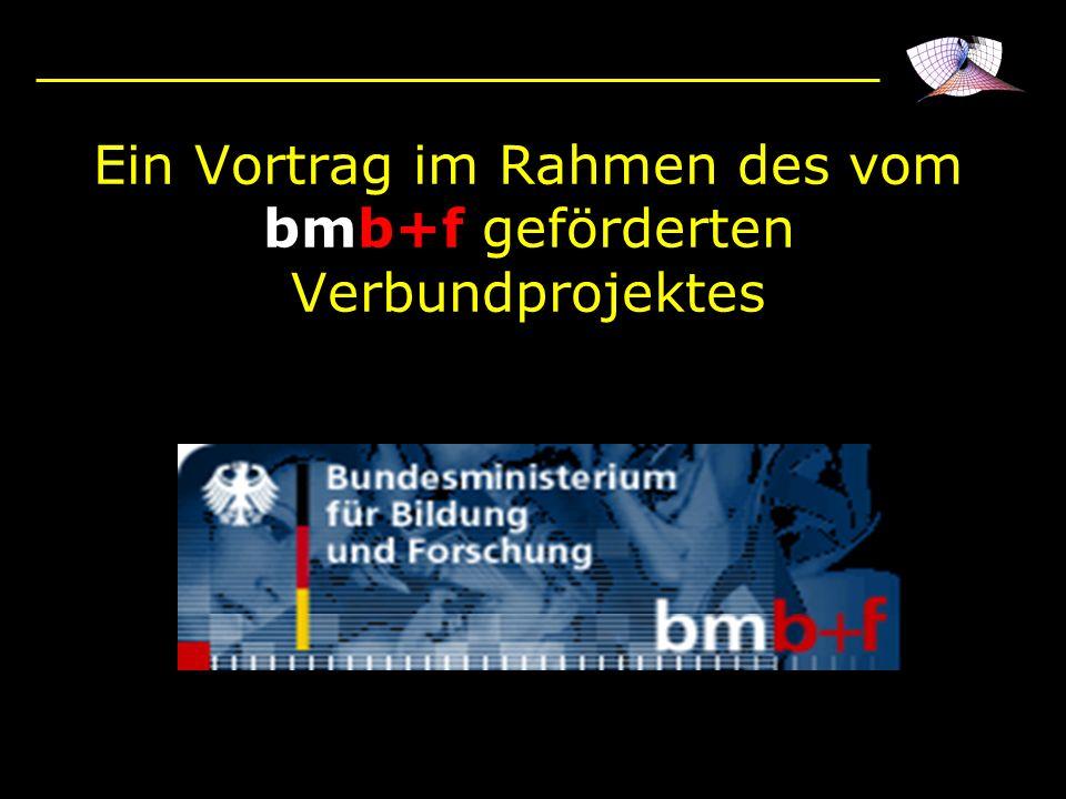 Ein Vortrag im Rahmen des vom bmb+f geförderten Verbundprojektes