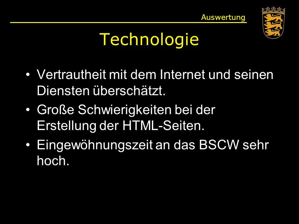 Technologie Vertrautheit mit dem Internet und seinen Diensten überschätzt.