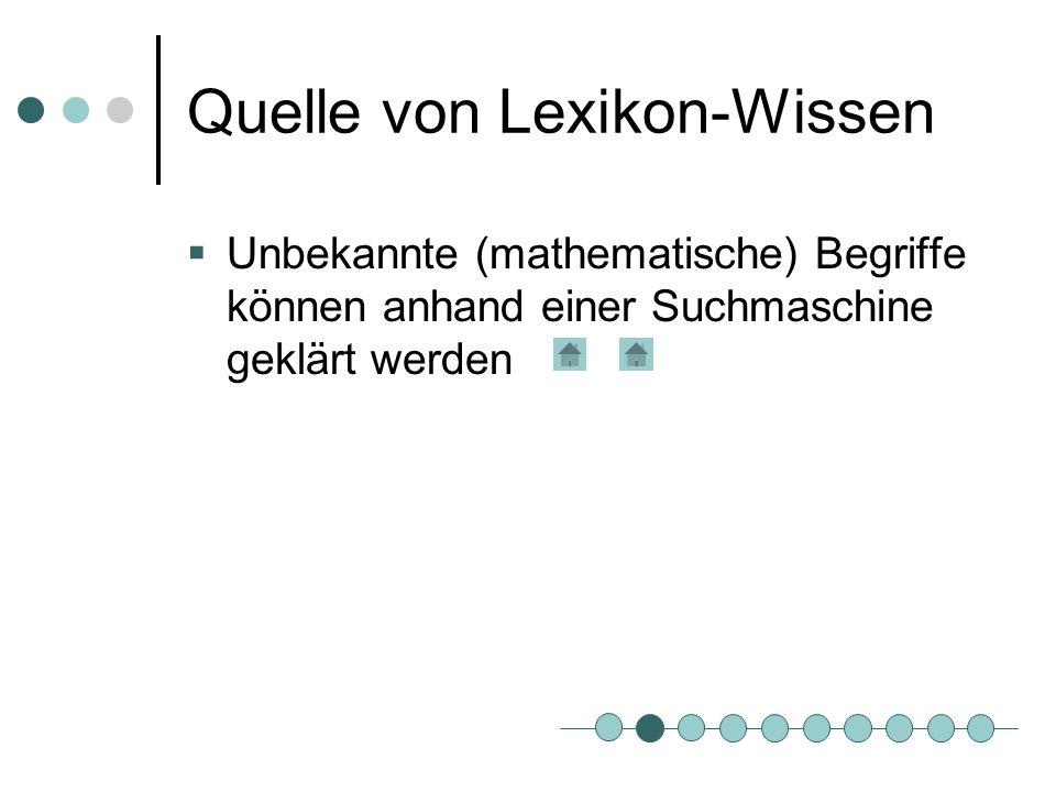 Tutorielles System Interaktive Arbeitsblätter Können als selbstkontrollierbare Hausaufgabe benutzt werden
