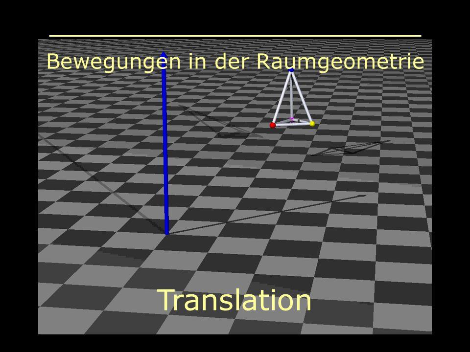 Bewegungen in der Raumgeometrie Translation