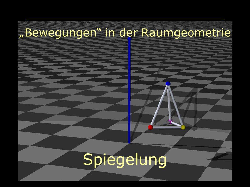 Bewegungen in der Raumgeometrie Spiegelung