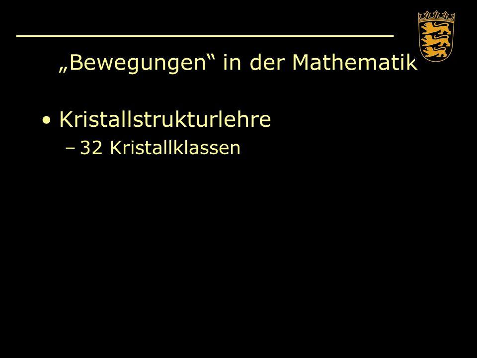 Lineare Algebra und Bewegungen Hauptsatz der Erstsemester: –Die Spalten der Matrix sind die Bilder der Einheitsvektoren.