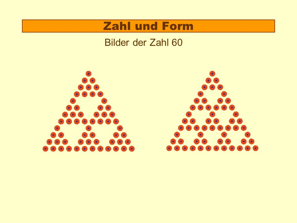 Zahl und Form 1.Beispiel: Miss 10 2.Theorie: Der Formzahlaspekt 3.Anschaulich rechnen: Zerlegen und Umformen von Zahlbildern Zahlbilder: spielerische Operationen Punktefeld: gezielte Operationen