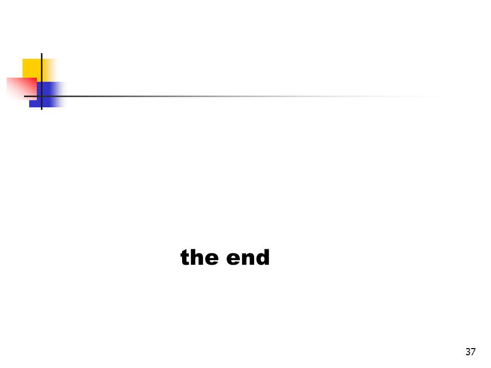 37 the end