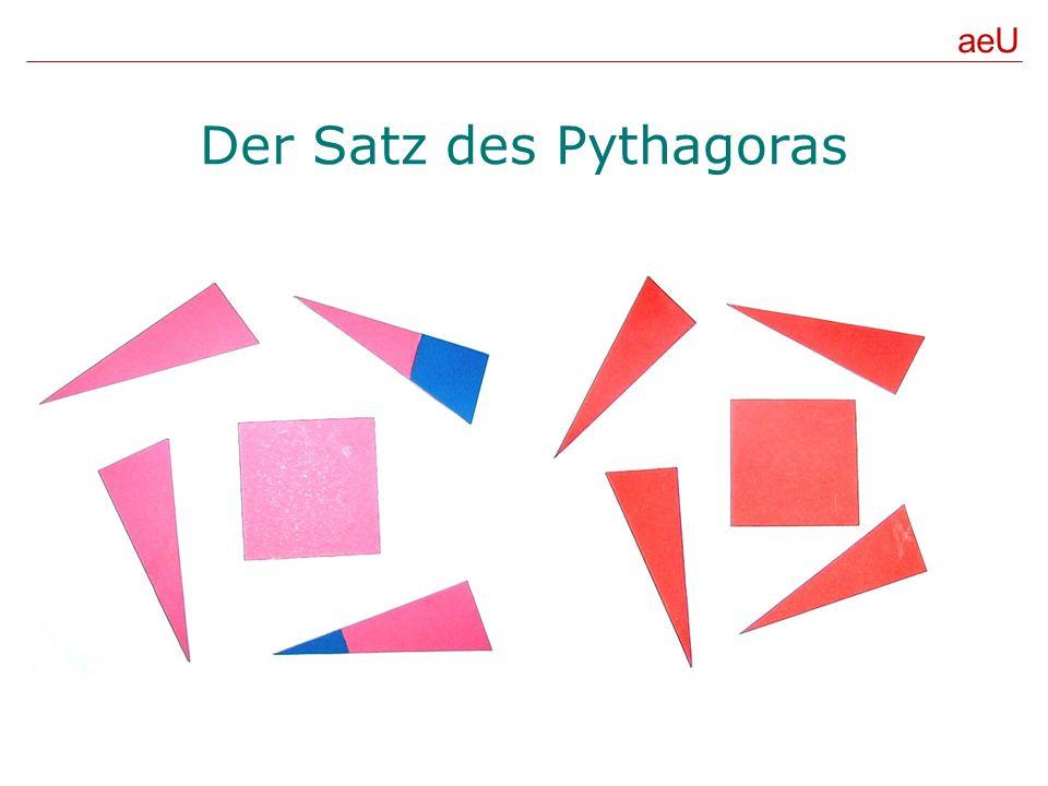Der Satz des Pythagoras aeU