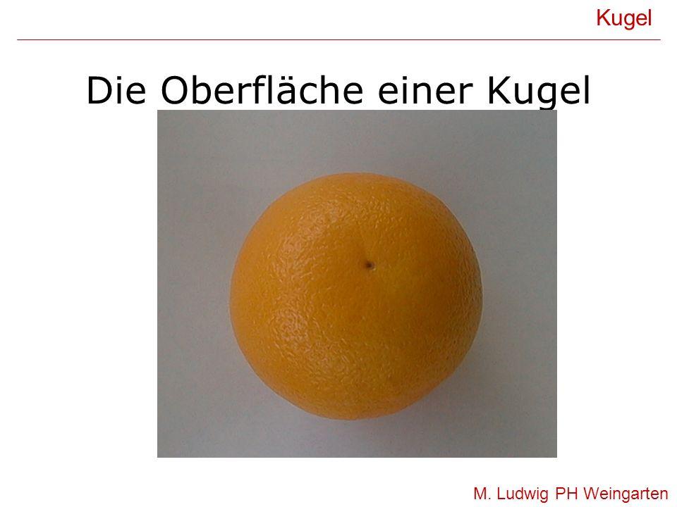Die Oberfläche einer Kugel Kugel M. Ludwig PH Weingarten