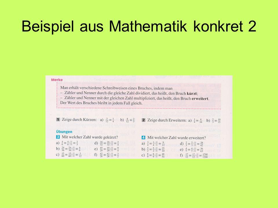Beispiel aus Mathematik konkret 2