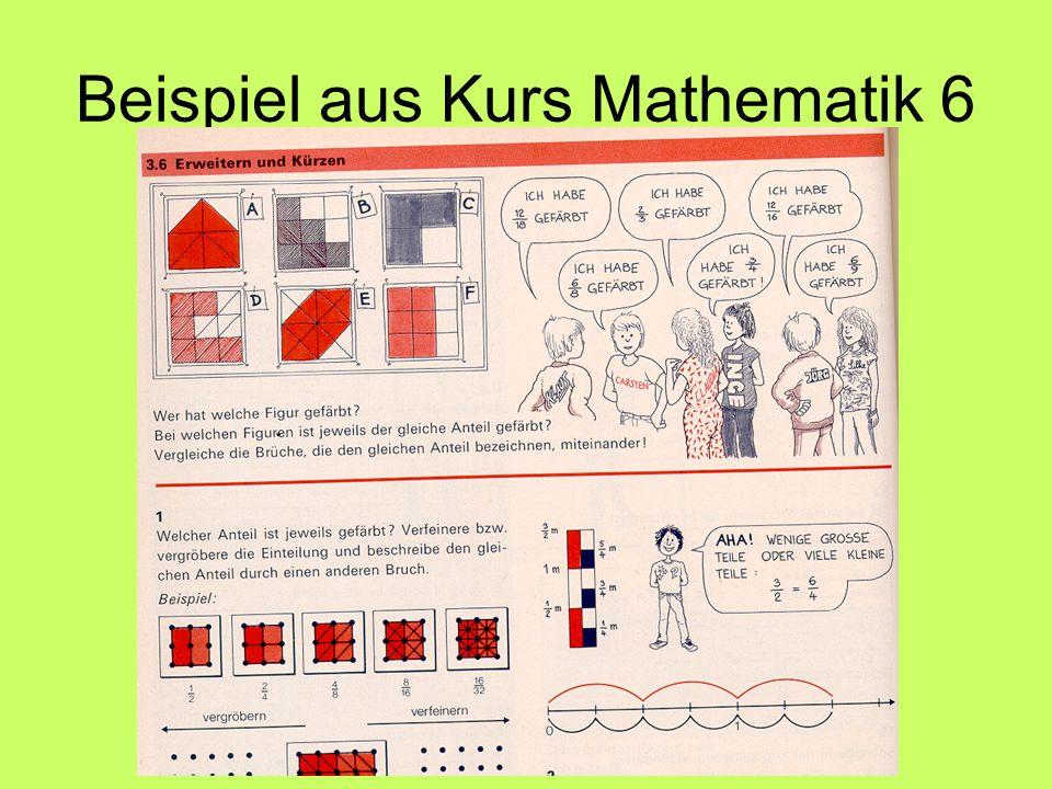 Beispiel aus Kurs Mathematik 6