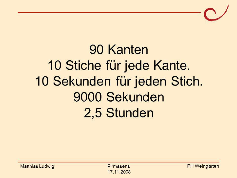 PH Weingarten Matthias LudwigPirmasens 17.11.2008 Stufe 0: Die Realsituation wurde nicht erfasst.