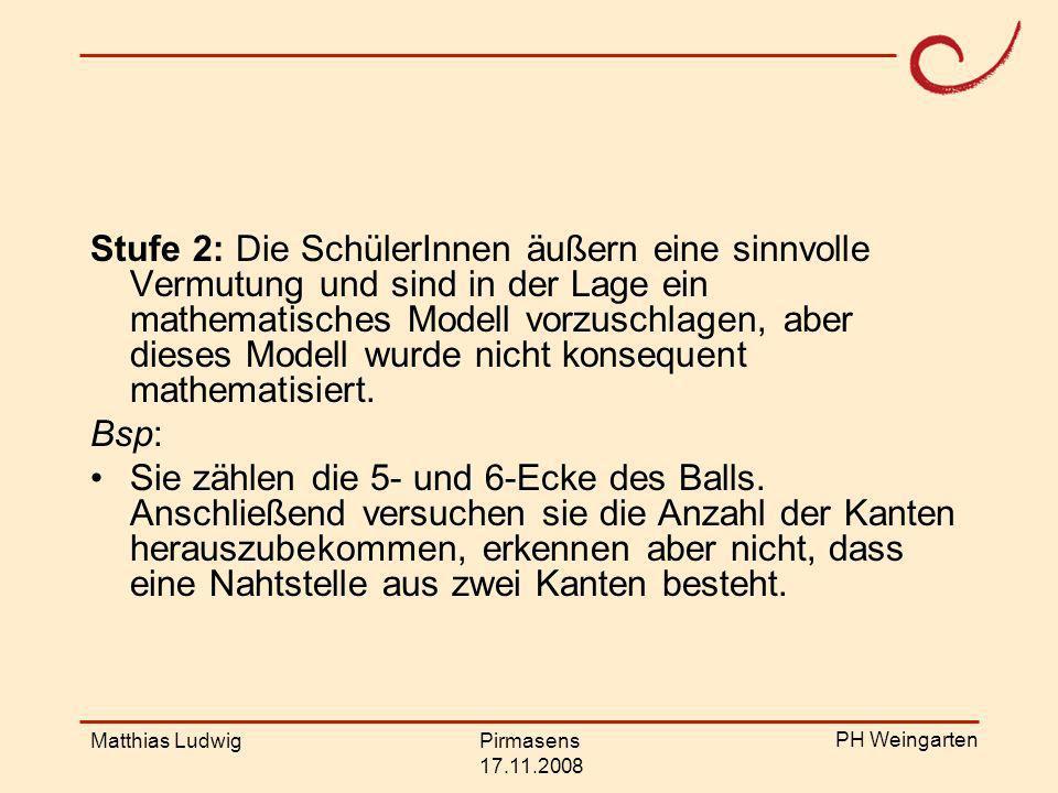PH Weingarten Matthias LudwigPirmasens 17.11.2008 Ergebnisse Signifikante Unterschiede zwischen den Jahrgangstufen 5, 6/7 und 8