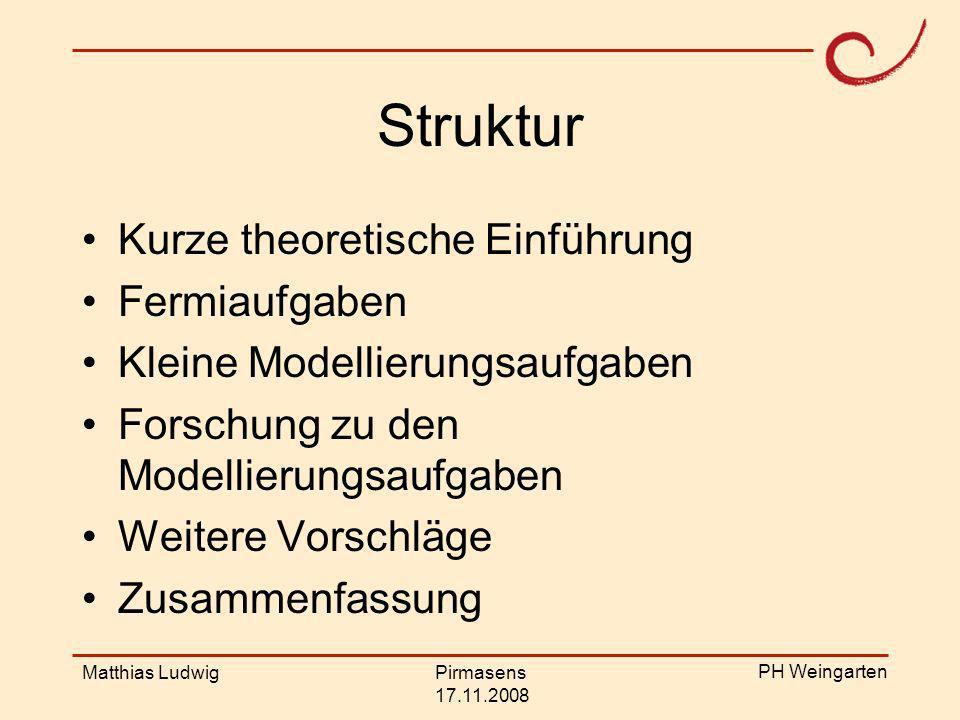PH Weingarten Matthias LudwigPirmasens 17.11.2008 Unsere mathematischen Begriffe, Strukturen und Vorstellungen sind erfunden worden als Werkzeuge, um die Phänomene der natürlichen, sozialen und geistigen Welt zu ordnen.