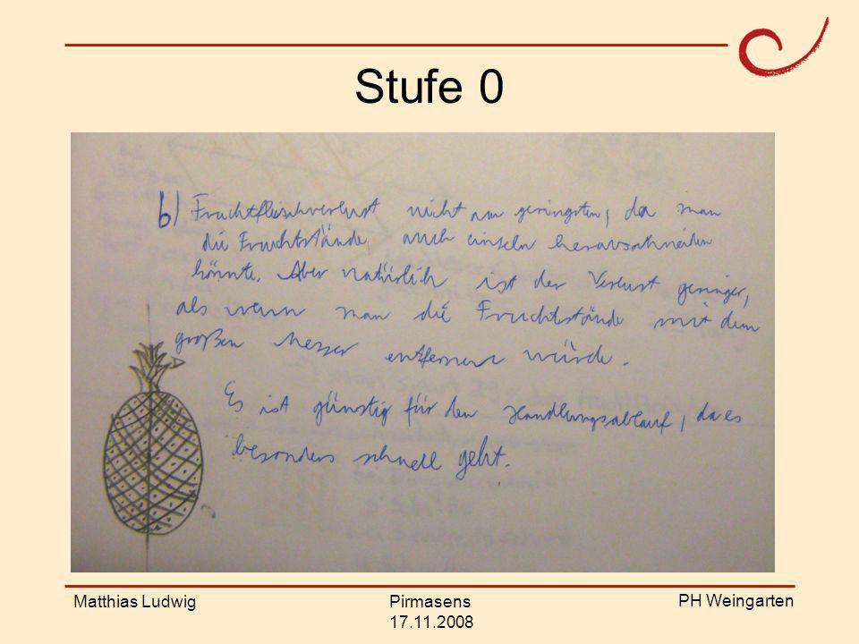 PH Weingarten Matthias LudwigPirmasens 17.11.2008 Stufe 4