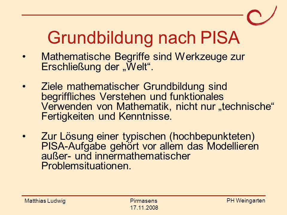 PH Weingarten Matthias LudwigPirmasens 17.11.2008 Mathematisches Modellieren im Sinne von: Beschreibung realer funktionaler Zusammenhänge (Flugbahn) Nachbauen, bzw.