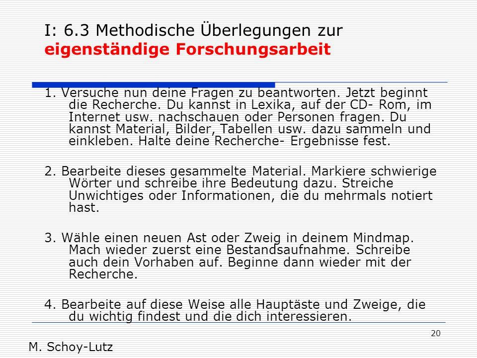 20 1. Versuche nun deine Fragen zu beantworten. Jetzt beginnt die Recherche. Du kannst in Lexika, auf der CD- Rom, im Internet usw. nachschauen oder P