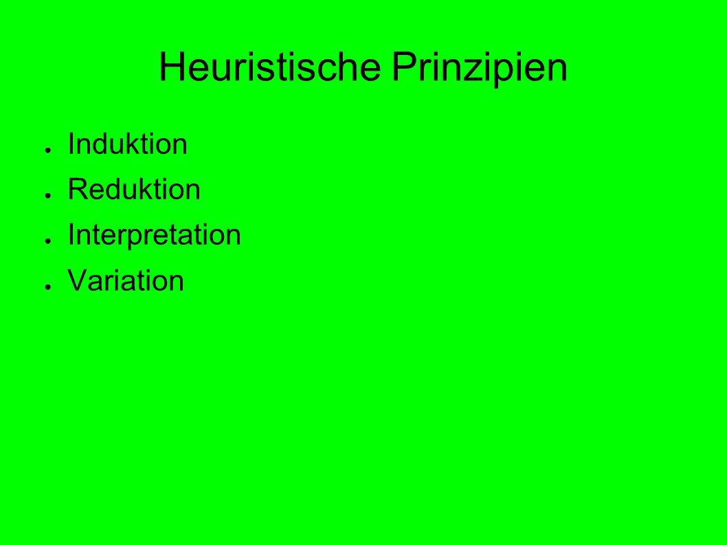 Heuristische Prinzipien Induktion Reduktion Interpretation Variation