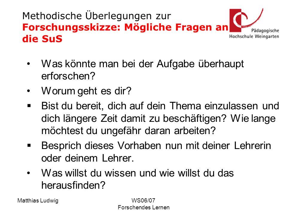 Matthias LudwigWS06/07 Forschendes Lernen Was sind Minustürme.