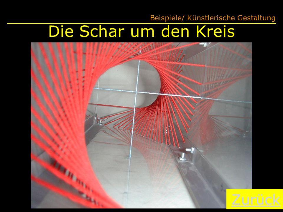 Die Schar um den Kreis Beispiele/ Künstlerische Gestaltung Zurück
